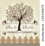 family reunion invitation card | Shutterstock .eps vector #133145675