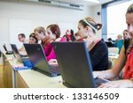 college students sitting in a... | Shutterstock . vector #133146509