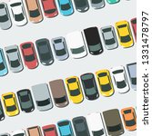 full parking lot vector. parked ... | Shutterstock .eps vector #1331478797