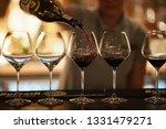 wine glasses on the table | Shutterstock . vector #1331479271