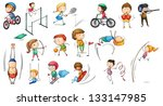 illustration of the different... | Shutterstock .eps vector #133147985