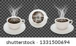 black hot coffee  three cup... | Shutterstock .eps vector #1331500694