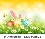 easter theme with bunny ears... | Shutterstock .eps vector #1331508521