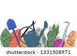 background with garden tools... | Shutterstock .eps vector #1331508971