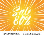 sale 80   beautiful greeting... | Shutterstock .eps vector #1331513621