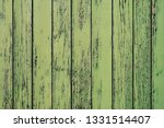 Old Wooden Painted Rustic Wall...