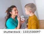 speech therapist and little...   Shutterstock . vector #1331530097