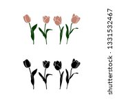 vector simpleline art tulp for... | Shutterstock .eps vector #1331532467