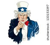 vector illustration of uncle sam | Shutterstock .eps vector #133153397