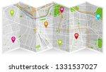 design map city gps el paso | Shutterstock .eps vector #1331537027