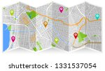 design map city gps  | Shutterstock .eps vector #1331537054