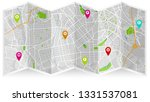 design map city gps  | Shutterstock .eps vector #1331537081