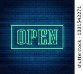 neon open 24 7 glowing bright...   Shutterstock .eps vector #1331542271