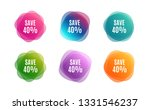 blur shapes. save 40  off. sale ... | Shutterstock .eps vector #1331546237