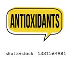 antioxidants speech bubble on... | Shutterstock .eps vector #1331564981