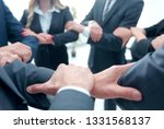 closeup. unified business team . | Shutterstock . vector #1331568137