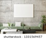 mock up poster  green... | Shutterstock . vector #1331569457