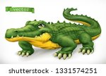 crocodile  alligator. funny... | Shutterstock .eps vector #1331574251