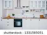 Stock photo modern white kitchen with all equipment needed 1331585051