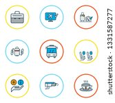 transportation icons colored... | Shutterstock . vector #1331587277