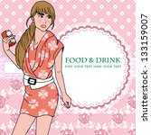a nice girl go for shopping  ... | Shutterstock .eps vector #133159007