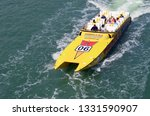 jet boat sightseeing ride a ... | Shutterstock . vector #1331590907