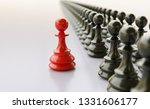 leadership concept  red pawn of ... | Shutterstock . vector #1331606177