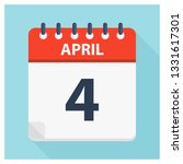 april 4   calendar icon  ... | Shutterstock .eps vector #1331617301