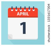 april 1   calendar icon  ... | Shutterstock .eps vector #1331617304