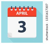 april 3   calendar icon  ... | Shutterstock .eps vector #1331617307
