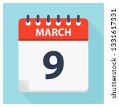 march 9   calendar icon  ... | Shutterstock .eps vector #1331617331