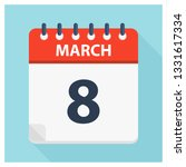 march 8   calendar icon  ... | Shutterstock .eps vector #1331617334