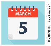 march 5   calendar icon  ... | Shutterstock .eps vector #1331617337