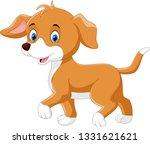 vector illustration. happy dog...   Shutterstock .eps vector #1331621621