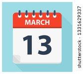 march 13   calendar icon  ... | Shutterstock .eps vector #1331629337