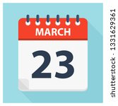 march 23   calendar icon  ... | Shutterstock .eps vector #1331629361