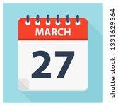 march 27   calendar icon  ... | Shutterstock .eps vector #1331629364