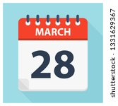 march 28   calendar icon  ... | Shutterstock .eps vector #1331629367