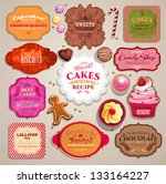 vintage set of grunge stickers  ... | Shutterstock .eps vector #133164227