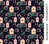 vector cute seamless pattern... | Shutterstock .eps vector #1331643377