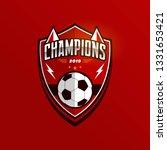 soccer football badge logo... | Shutterstock .eps vector #1331653421