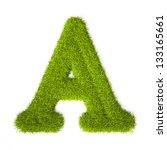 grass style latin alphabet... | Shutterstock . vector #133165661