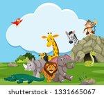 wild animal in nature... | Shutterstock .eps vector #1331665067
