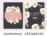 wedding invitation  floral... | Shutterstock .eps vector #1331666144