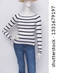 mannequin in female stripy... | Shutterstock . vector #1331679197