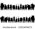 cats silhouette border set | Shutterstock .eps vector #1331694671