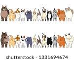 cats border set | Shutterstock .eps vector #1331694674