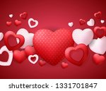 happy valentines day card with... | Shutterstock . vector #1331701847