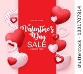valentines day sale  discont... | Shutterstock . vector #1331707814