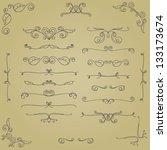 calligraphic design elements | Shutterstock .eps vector #133173674